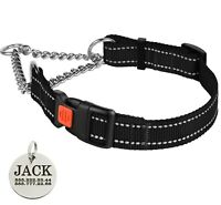 Reflective Collars for Dogs Martingale Dog Collar Training Choke Black S M L