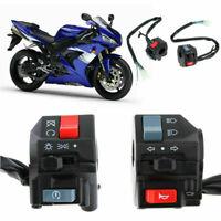 """coppia  7/8 """"manubrio moto On Off Switch Pulsante indicatore direzione clacson"""