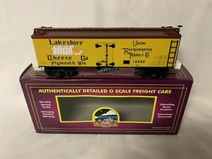 ✅MTH PREMIER WISCONSIN LAKESHIRE CHEESE 36' WOOD SIDED REEFER CAR 20-94309!