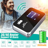 Portable 4G LTE LCD WIFI Wireless Router Mobile Modem 3560mAh Hotspot Unlocked