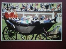 POSTCARD ROYALTY QUEEN MOTHER & PRINCESS ANNE ASCOT 1978 30 YEARS OF E II R