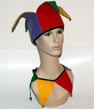 COURT JESTER Clown Joker HAT HEADWEAR HEADPIECE and COLLAR Costume Halloween New
