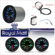 """Fast Shipping Autos 2"""" 52mm Round Water Coolant Temp Meter 7-Color LED Backlight"""