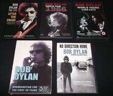 5 Bob Dylan DVDs - World Tours 1966-1974, No Direction Home, Broadcasting Live