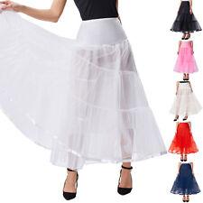 Retro Tulle Skirt Petticoat Crinoline Long Underskirt  Bridal Wedding Skirt New