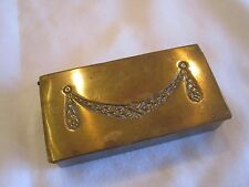 Antique Brass Stamp Holder 3 compartment Made in Austria *