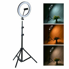 Home LED Ring Light Studio Photo Video Dimmable Lamp Tripod Stand Selfie Camera