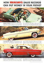 1954 Ford Mercury Authentic Full Page Retro American Car Advertising