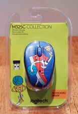 NEW! Logitech M325C Wireless Sneaker Head Mouse, Notebook Doodle Collection