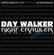 Day Walker Night Crawler Art Design Car Vinyl Sticker Decals