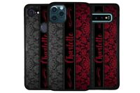 Damask Red Black Flowers Personalized Phone Case for Apple Samsung LG Google