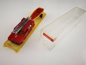 MAJORETTE série 300 BARQUE N°362 boîte cristal DODGE Pompier FRANCE