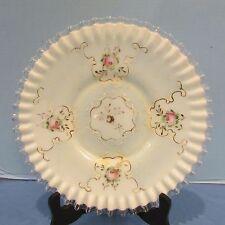 "Rare Fenton Silvercrest AWCO Charleton Blue Mist 12"" Plate"