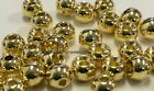 """BRASS FLY TYING BEADS GOLD 1.5 MM 1/16"""" 200 COUNT"""