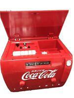 Coca Cola Cooler Radio AM/FM Cassete Player April 1, 1998 Serial #OTR-1949/12450