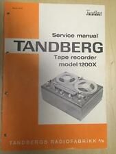 Tandberg Service Manual for the 1200X Tape Recorder Reel RtR ~ Original