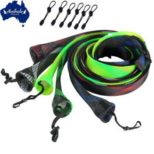 6x SF 2-piece Fishing Spinning Rod Skin Quick Clench Bungee Ties Random Color