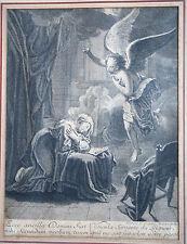 GRAVURE-L ANNONCIATION A LA VIERGE-ANTOINE COYPEL-RELIGION-ANGE-BIBLE-