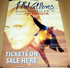 GENESIS PHIL COLLINS 'DANCE INTO THE UK' TICKETS ON SALE PROMO TOUR POSTER 1997