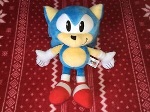 "Official TOMY 12"" CLASSIC SONIC THE HEDGEHOG Sonic Plush Toy Doll 2016"