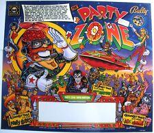 NOS Bally Party Zone translite pinball