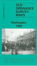 Old Ordnance Survey Map Haslingden 1909 Grane Road Height End Albert Mill