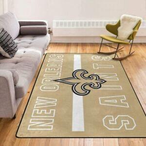 New Orleans Saints Shaggy Area Rugs Fluffy Floor Soft Carpet Living Room Bedroom