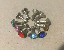11x Coloured Diamond Birthstone Anti Dust Plug 3.5mm Jack, U.K. Green