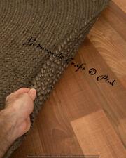 Braided Floor 4 x 4 ft Round Indian Handmade Dhurrie Cotton Rag Rugs Jute Mat
