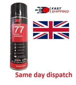 3M 7000116782 Super 77 Multi-Purpose Spray Adhesive � Quick-drying permanent for