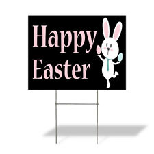 Weatherproof Yard Sign Happy Easter Outdoor Advertising Printing E Lawn Garden