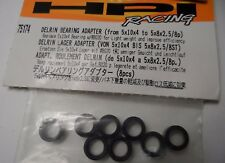 New HPI Delrin Bearing Adapter (From 5x10x4 to 5x8x2.5/8p) 8pcs 75174