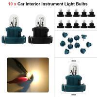 10pcs T3 LED 12V Car Auto Interior Instrument Light Bulbs Dashboard Lamps