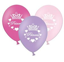 "Princess - 12"" Printed Lilac Light & Hot Pink Assorted Latex Balloons pack of 25"