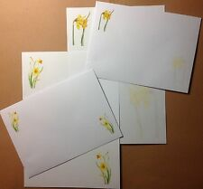Colourful Daffodil Flowers Letter Writing Paper & Envelopes Stationery Set