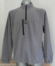 Mens HELLY HANSEN Jacket Polar 1/4 Zip WORKWEAR Grey 100% Poliester. Size M