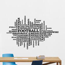Football Players Names Wall Decal Soccer Vinyl Sticker Art Decor Mural 21nnn