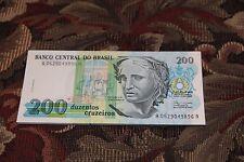 (25)  BRAZIL 200 CRUZEIROS 1990 UNC LOT P.229