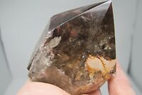 Smokey quartz Crystal Cut base Healing Natural Rainbow Seerer Rock Raw 254g