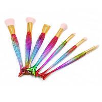 Lady Colourful 7Pcs Makeup Brush Fish Tail Foundation Powder Eyeshadow Brush New