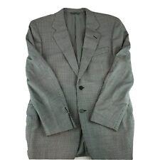 Canali Men's 2 Button Blazer 100% Wool Sport Coat Houndstooth Sz EUR50R Black