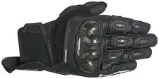 Alpinestars SPX Air Carbon Short Leather Motorcycle Bike Gloves Black Racing