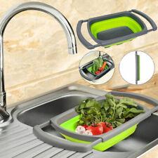 Grün Klappbar Küchensieb Faltbare Sieb Abtropfsieb Nudelsieb Gemüse Seiher Neu J