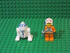 Lot of 2 Lego Star Wars minifigures minifigs - Luke Skywalker & R2-D2