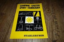 Camping Garten Sport Fahrräder Katalog 1971 z.B Bonanza Fahrrad,Zelte usw