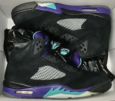 Jordan Retro V 5 Black Grape Emerald Ice Fire Red Metallic 136027-007 Sz 11