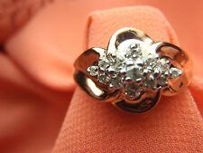 BEAUTIFUL 10k Yellow Gold .25 ctw Diamond Women's Cluster Ring Size 6 3/4