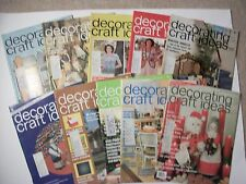 Lot of 10 DECORATING & CRAFT IDEAS 1975-Needlecrafts, painting, glass,beading et