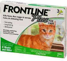 Frontline Plus for Cats - 3 Month - Usa / Epa Registered, Free Shipping