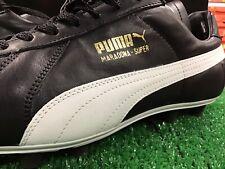 New Puma MARADONA Super FG Soccer Cleats Leather  Black / White / Gold size 10.5